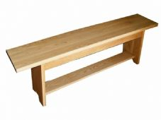 Handmade Solid Oak Bench - Long Seat - Can be Made to Measure